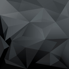 Dark Abstract Trendy Polygon Shape Background for Design Layout