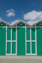 Change rooms in Italian beach