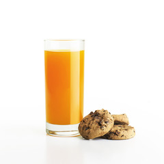 Orange Juice With Cookie