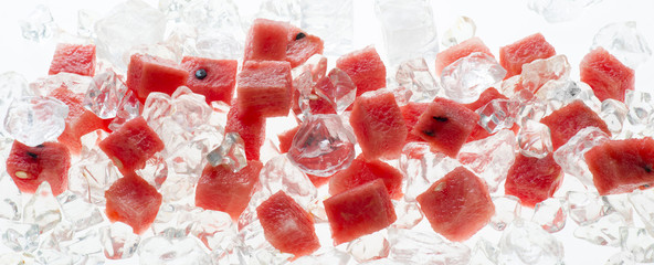 fruit in the ice