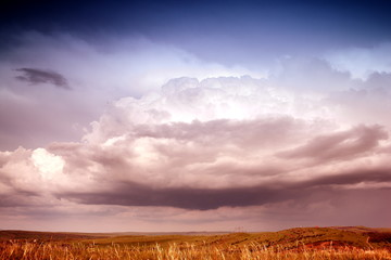 summer landscape with the pronounced sky