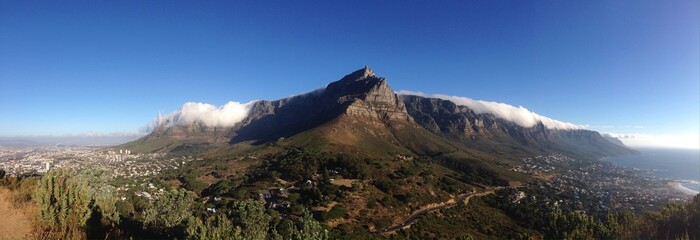 Clouds over the table mountain