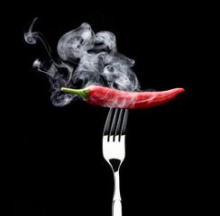 Rauchende Peperoni