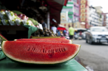 Watermelon in the marketplace