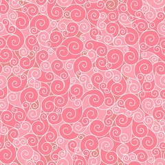 Vector seamless pattern curl