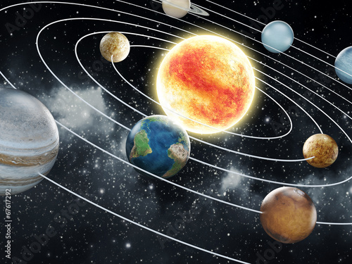 Zdjęcia na płótnie, fototapety na wymiar, obrazy na ścianę : Solar system illustration