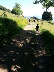 Je cours en montagne