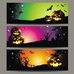3 Banner zu Halloween