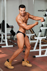 young bodybuilder in the gym