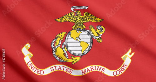 US Marine Corps flag waving - 67618637