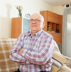 senior man in interior