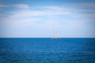 Sailing Catamaran - Stock Image