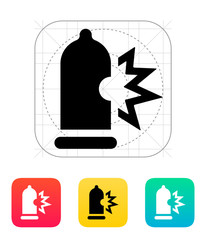 Condom bursting icon.