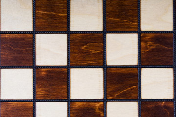 Wooden checkerboard background or texture