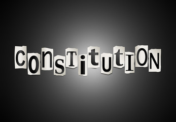 Constitution concept.