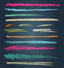 vector chalk lines or brushes