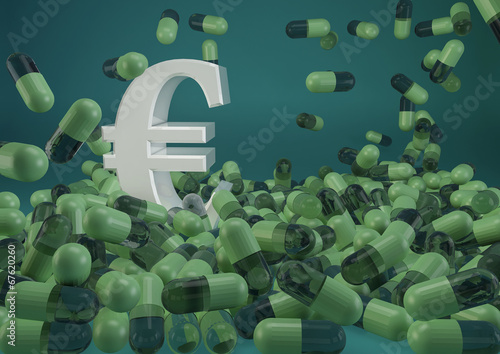 canvas print picture Health Costs - Euro