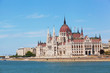 View of a building of the Hungarian parliament,