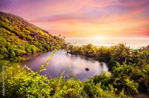 Tropical beach in Goa