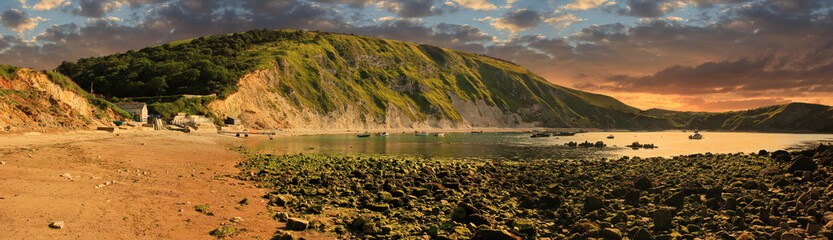 lulworth cove in the morning
