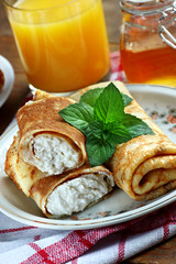 Crepes with cheese