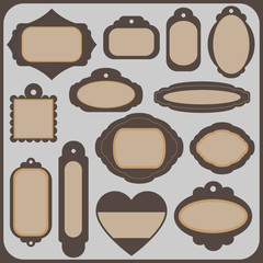 Set of tags and icons