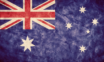 Australia grunge flag. Item from my vintage flags collection