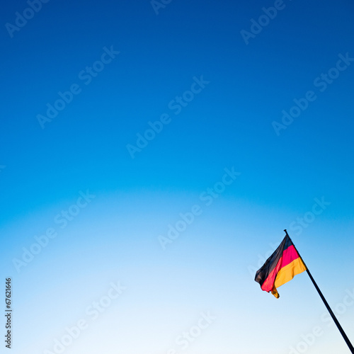 canvas print picture Schland Flag