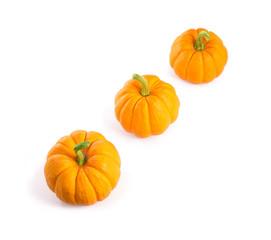Decorative orange pumpkins
