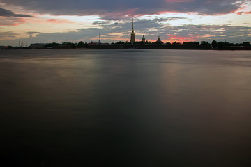 Sunset in St. Petersburg, Russia
