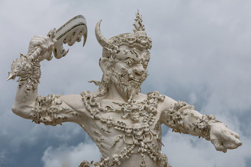 Angel of death statue at White Temple in Thailand