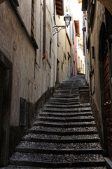 Quaint narrow cobbled steps in Bellagio