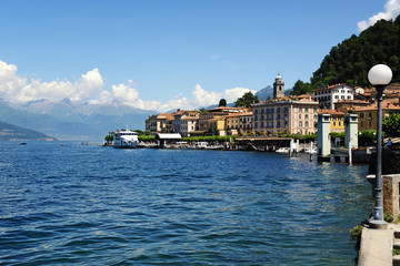 Scenic view of Bellagio waterfront on Como Lake