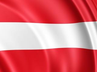 die Flagge Österreichs