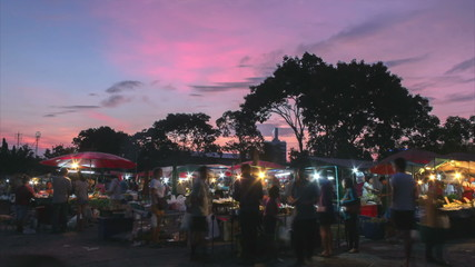 Countryside at twilight market
