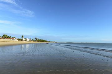 Beach with boats, Pititinga (Brazil)