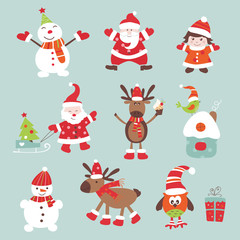Christmas scrapbook elements