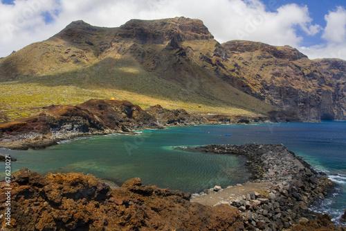 Mountains of Los Gigantes on the bay at Punta del Teno Tenerife
