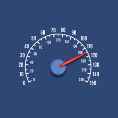 Simple speedometer icon
