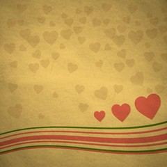 vintage heart sign background
