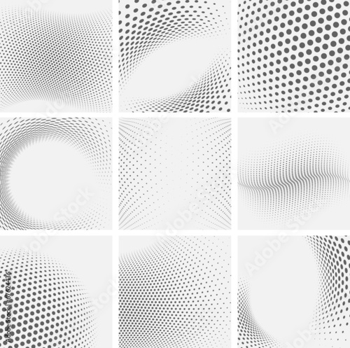 Set of dotted abstract forms - 67624436