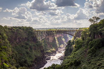 Victoria Falls Bridge in Zambia