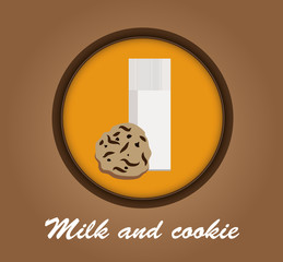 Milk and cookie icon