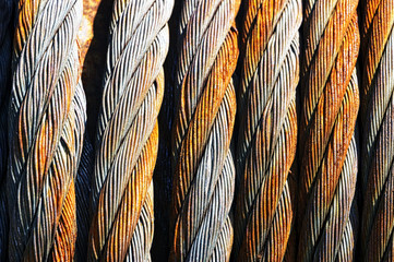 rusty steel cables