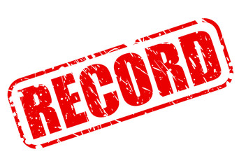 RECORD red stamp text