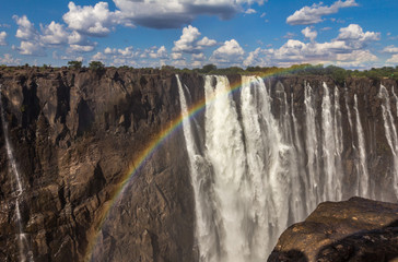 Rainbow over Victoria Falls in Zambia South Africa