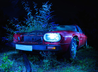 Light Painting Abandoned Car