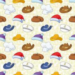 Seamless pattern of different heads