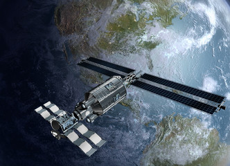 Satellite, spacelab or spacecraft surveilling Earth