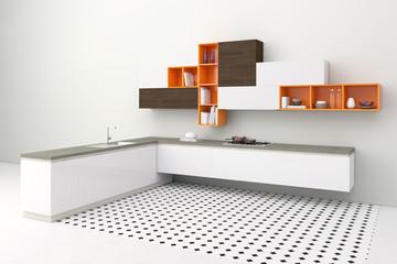 Moderne Küche mit Küchenzeile